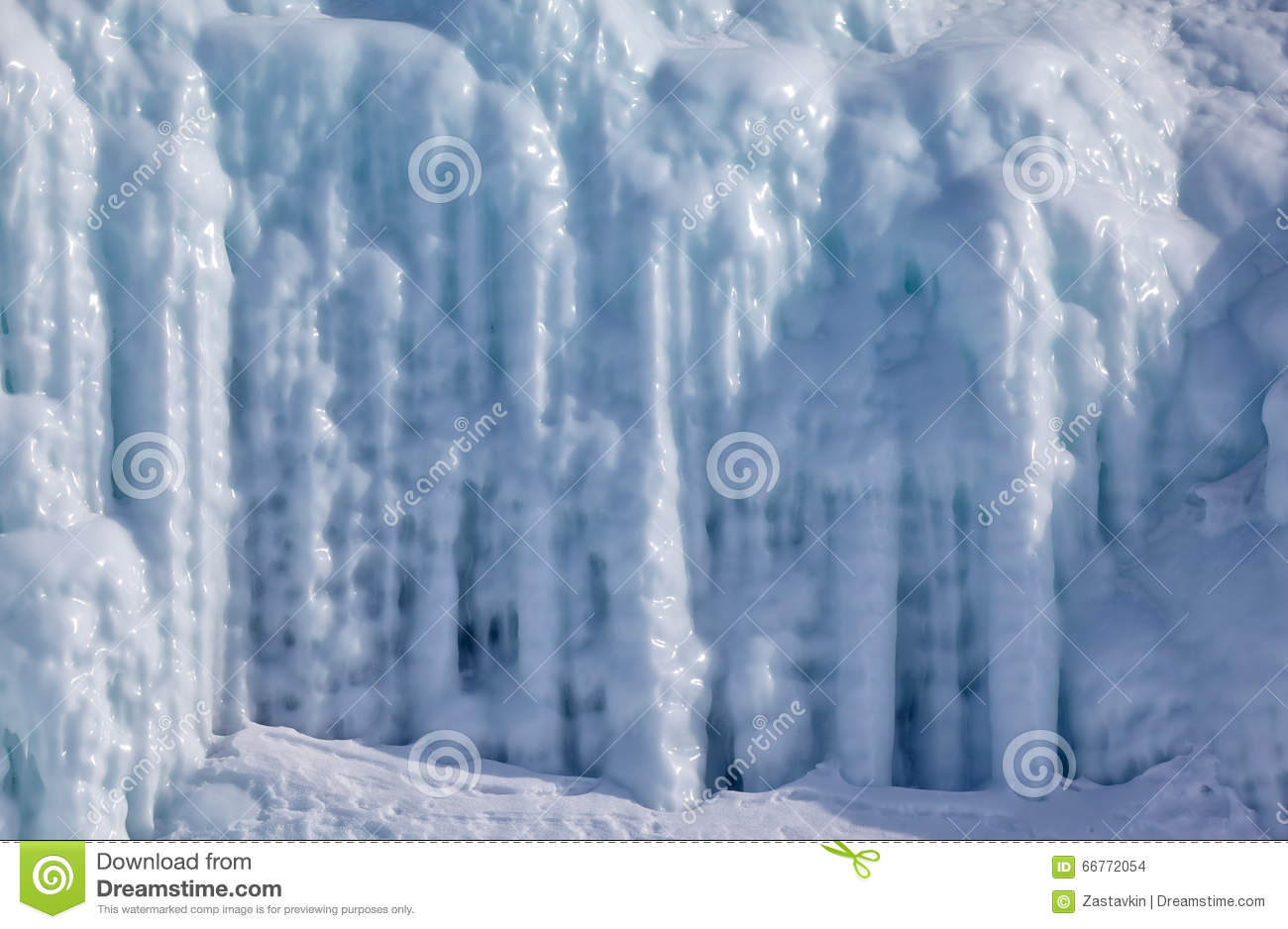 Icicles on the ice wall