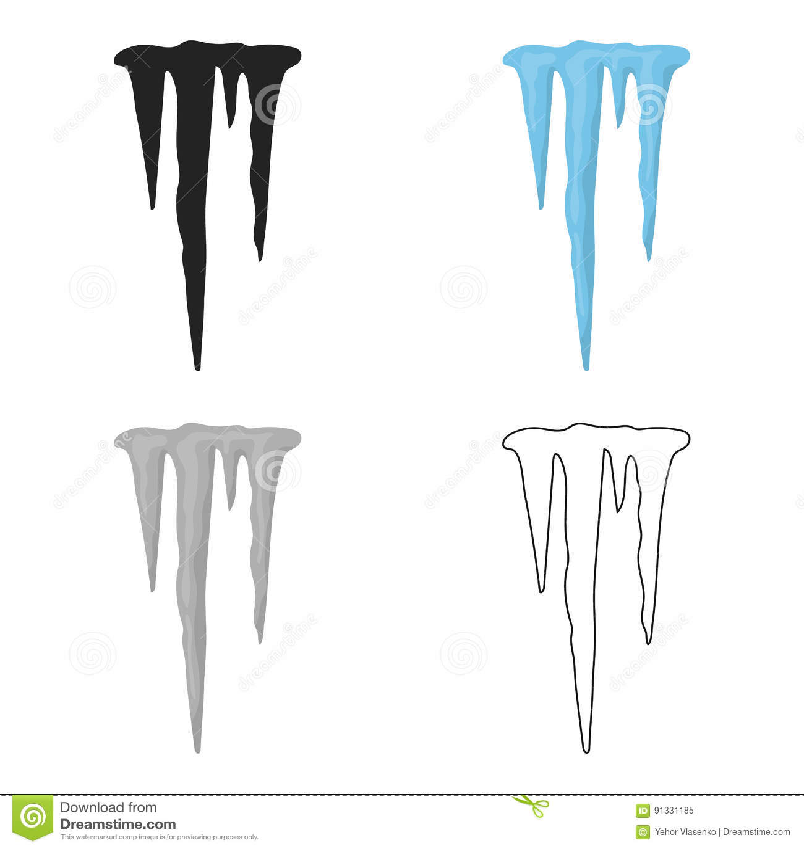 Icicles icon in cartoon style isolated on white background icicles icon in cartoon style isolated on white background weather symbol stock vector illustration buycottarizona Images