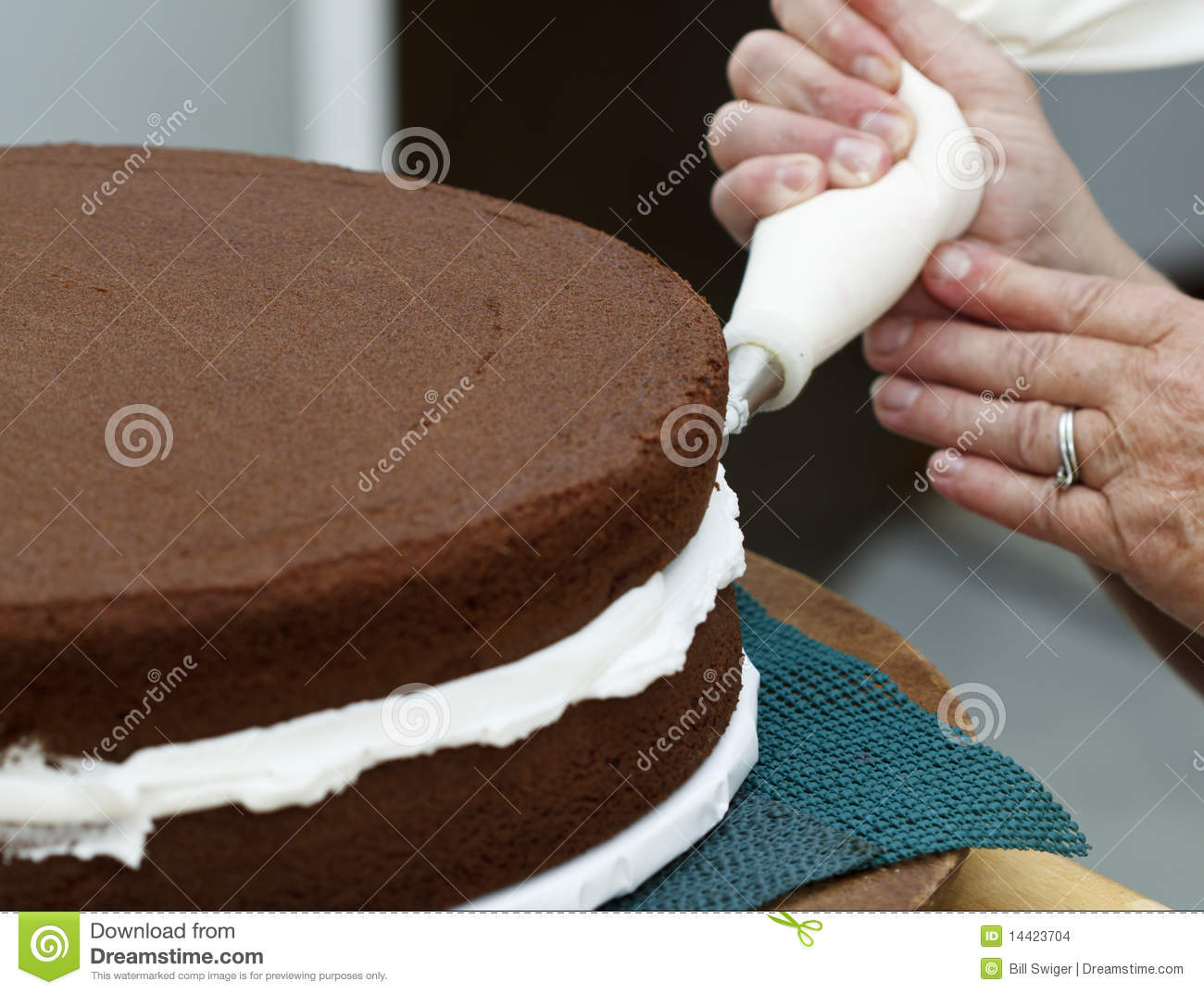 Icing The Cake Stock Photo Image Of Artisan Delicious