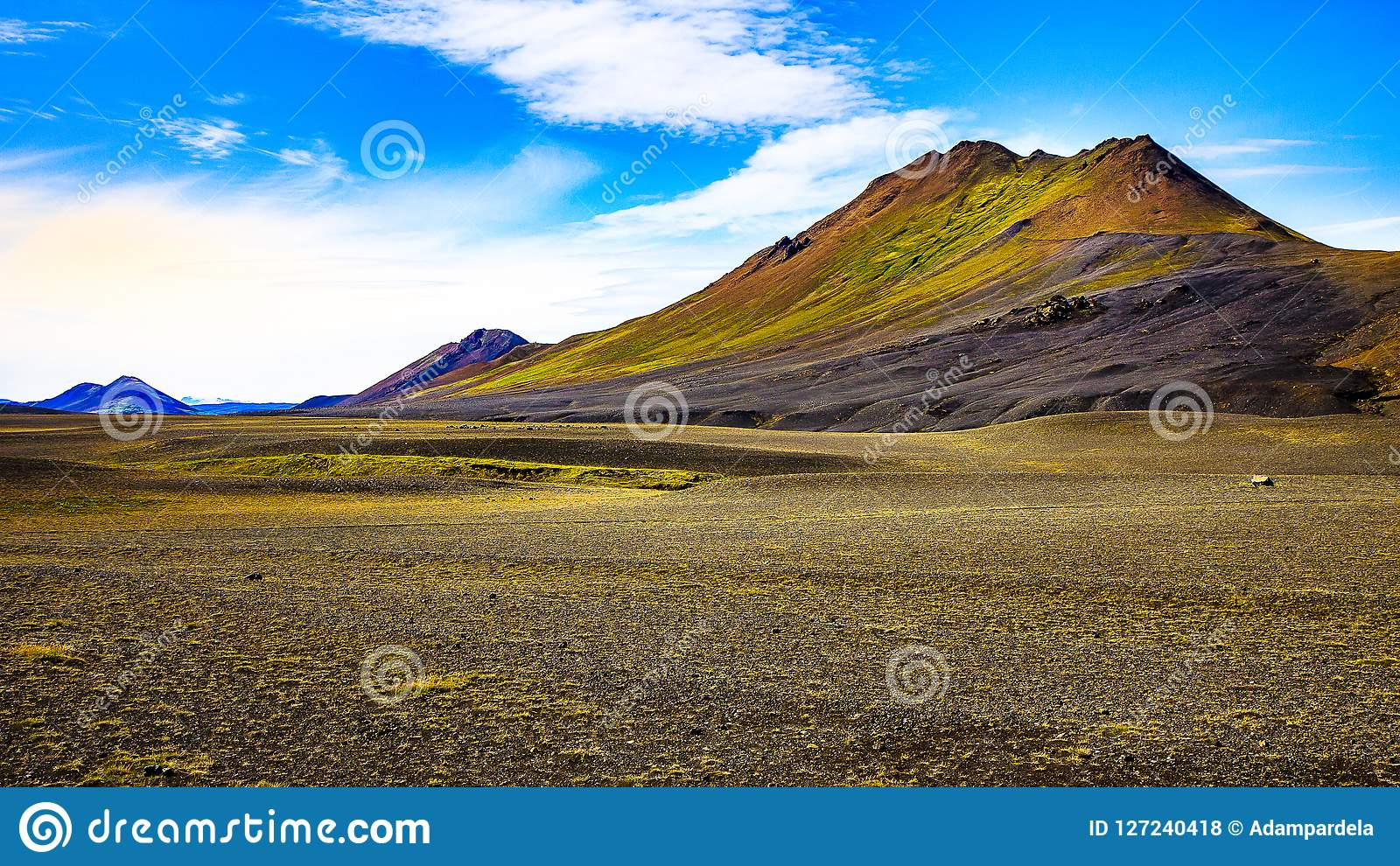 Iceland nature - colorful vulcanic mountains