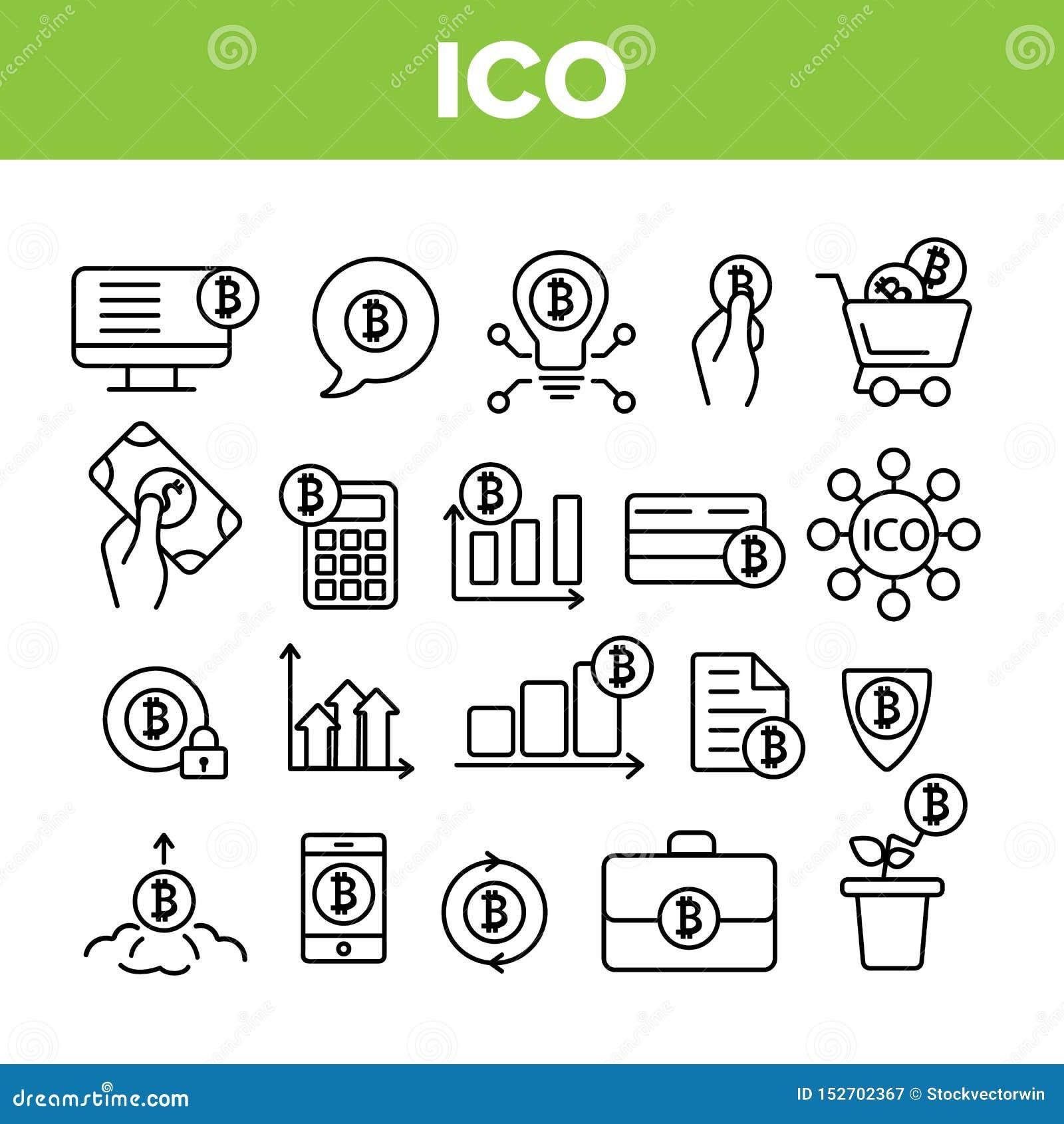 ICO,Bitcoin导航稀薄的线象集合