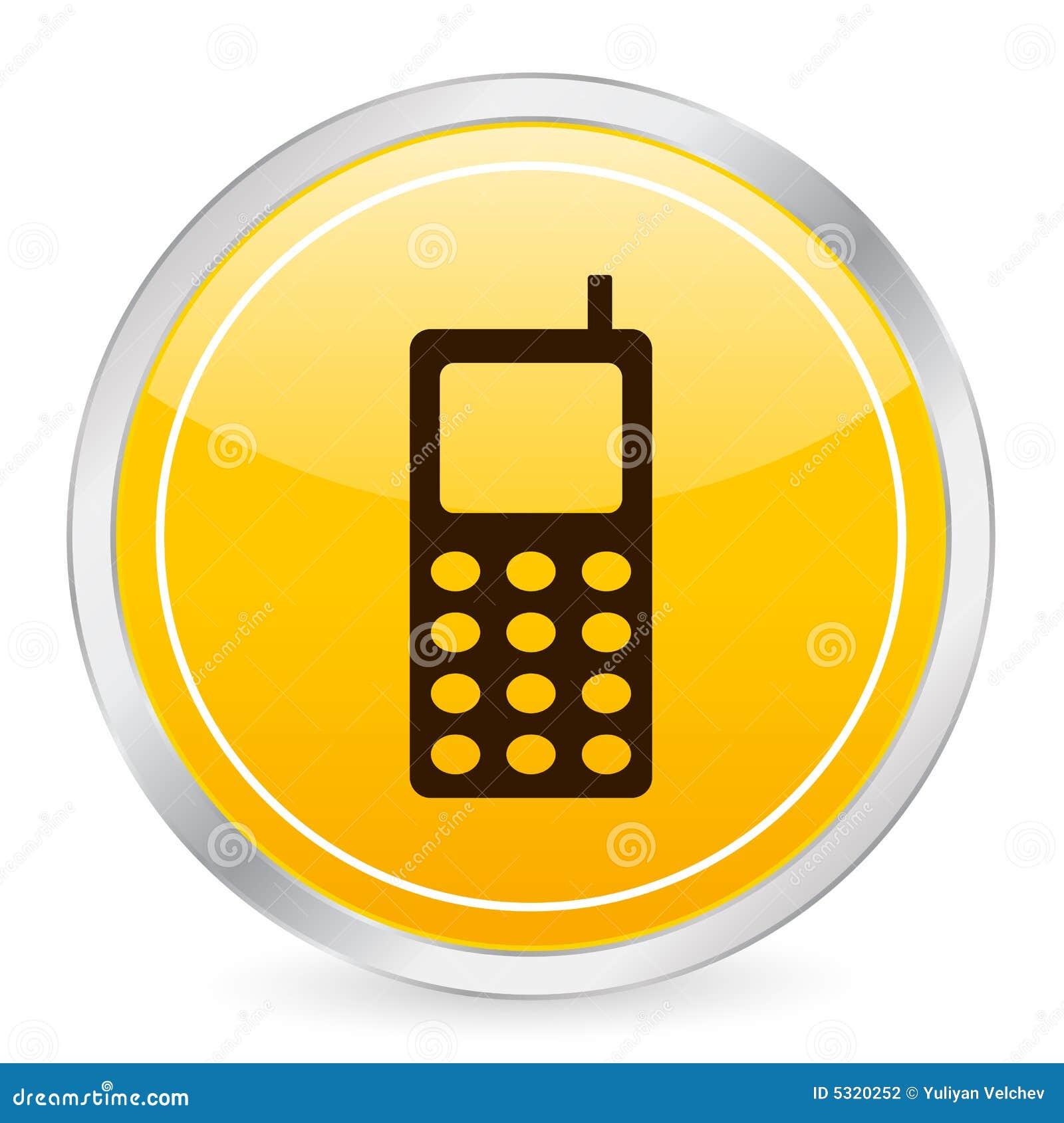 Download Ico Del Cerchio Di Colore Giallo Del Telefono Mobile Illustrazione Vettoriale - Illustrazione di elettronico, luogo: 5320252