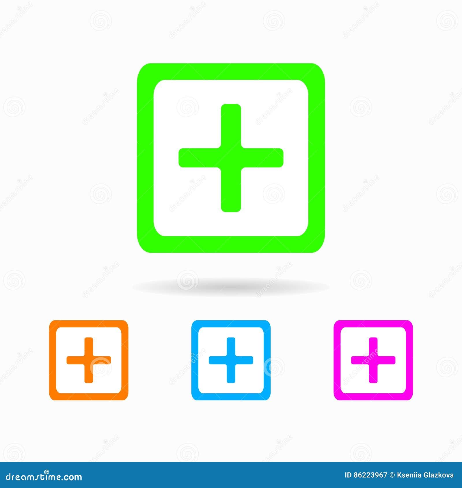 Icon Add. Isolated On White Background Stock Illustration ...