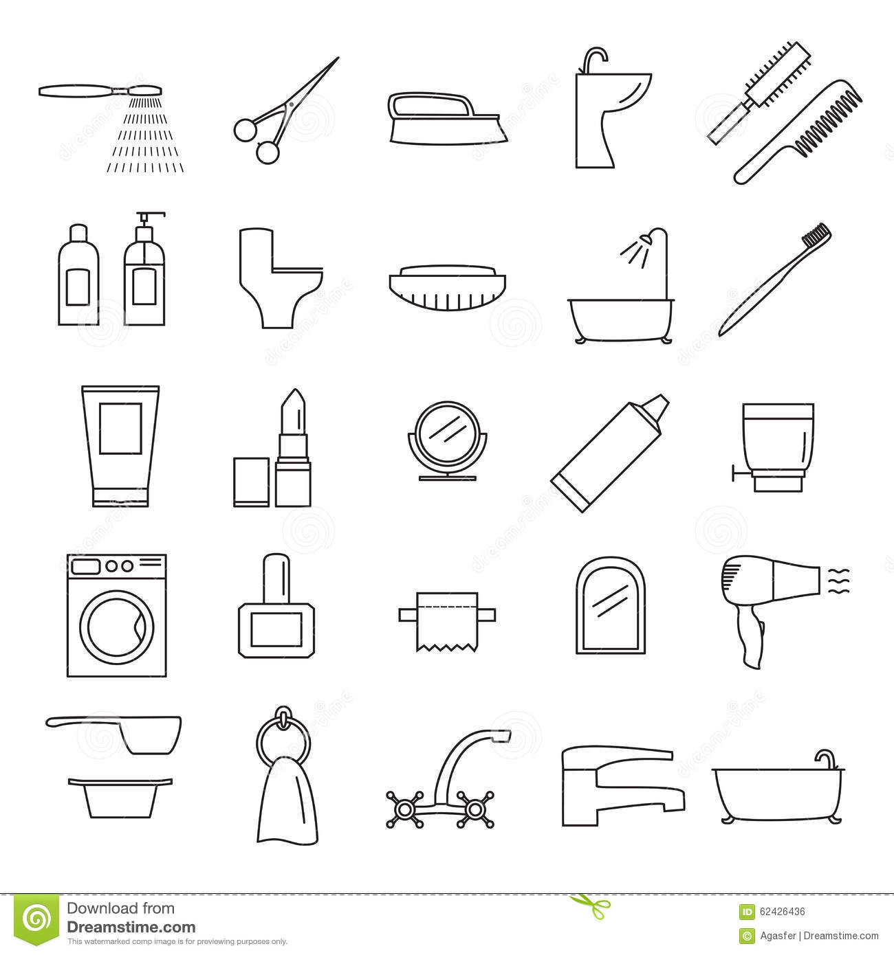 Line Art Bathroom : Icon bathroom stock vector image