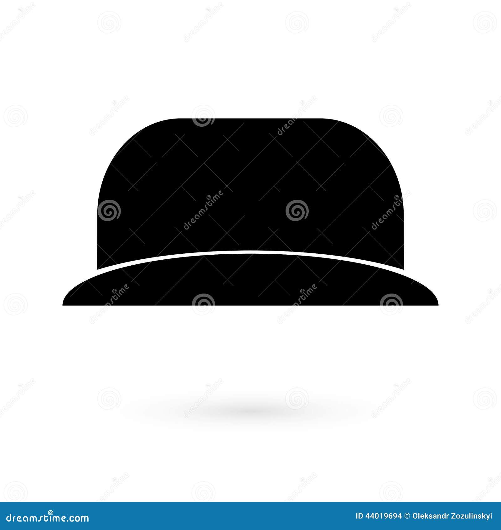 6ce2d696814d2 Icon Black Hat. Raster Illustration 44019694 - Megapixl