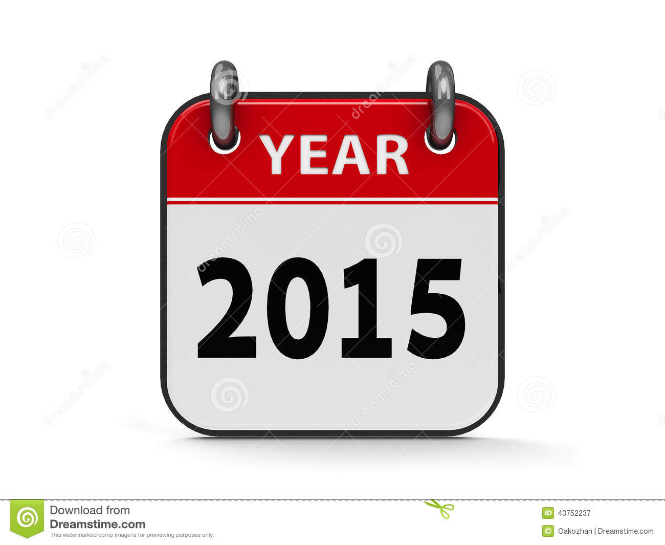 Icon calendar 2015 year isolated on white background, three ...