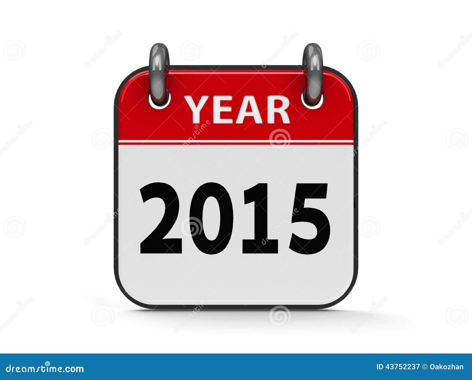 Icon Calendar 2015 Year Stock Illustration Image 43752237