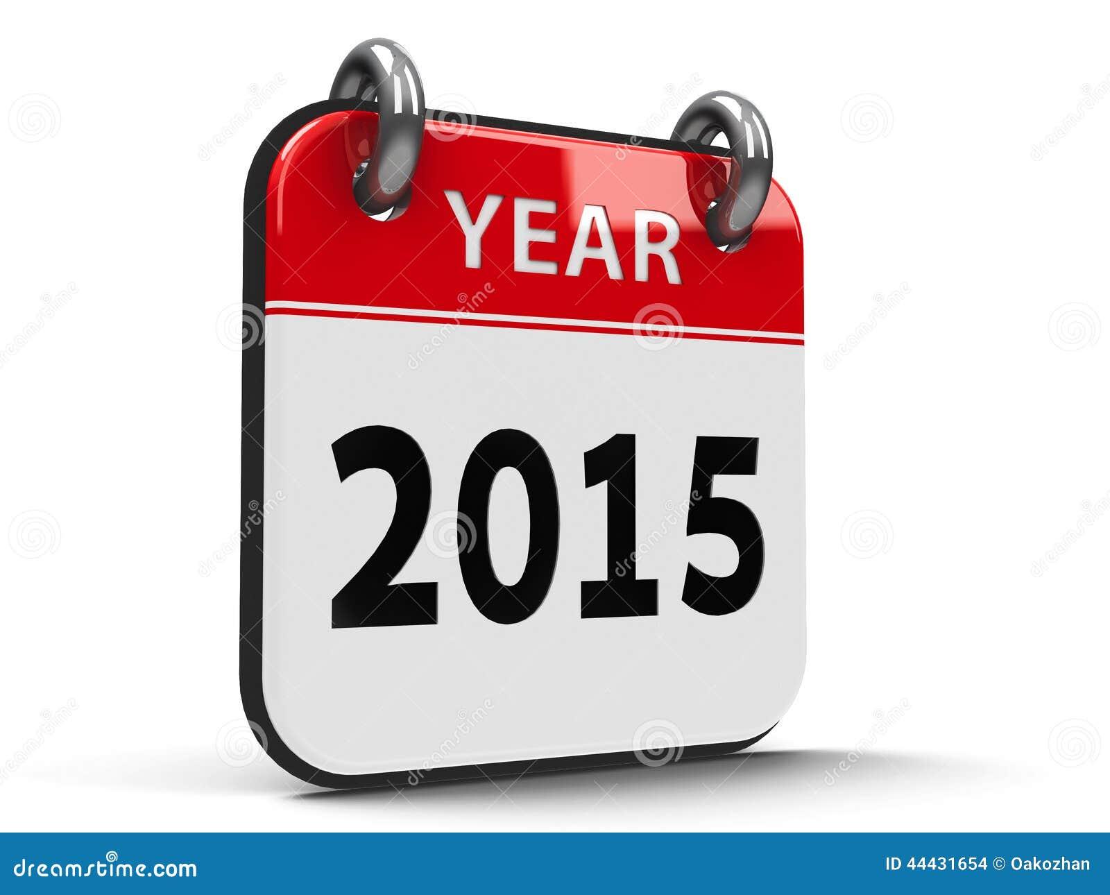 Icon Calendar 2015 Year Isometry Stock Illustration - Image: 44431654