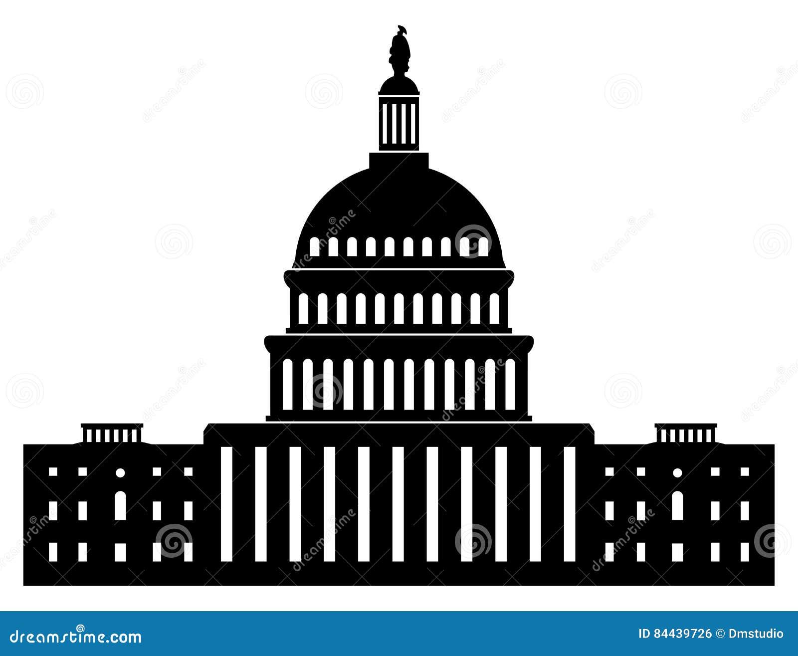 icon of capitol building washington dc american congress vector rh dreamstime com Simple Capitol Building Drawing capitol building vector artwork