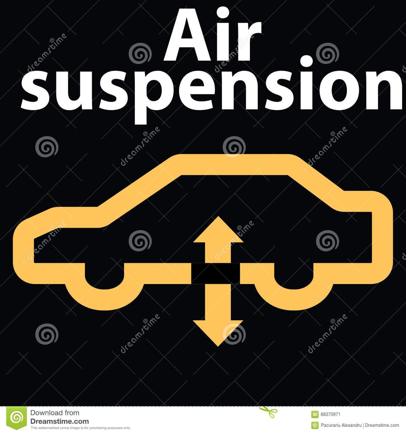 Icon For Car Air Suspensionwarning Dashboard Sign DTC Code - Car sign on dashboard