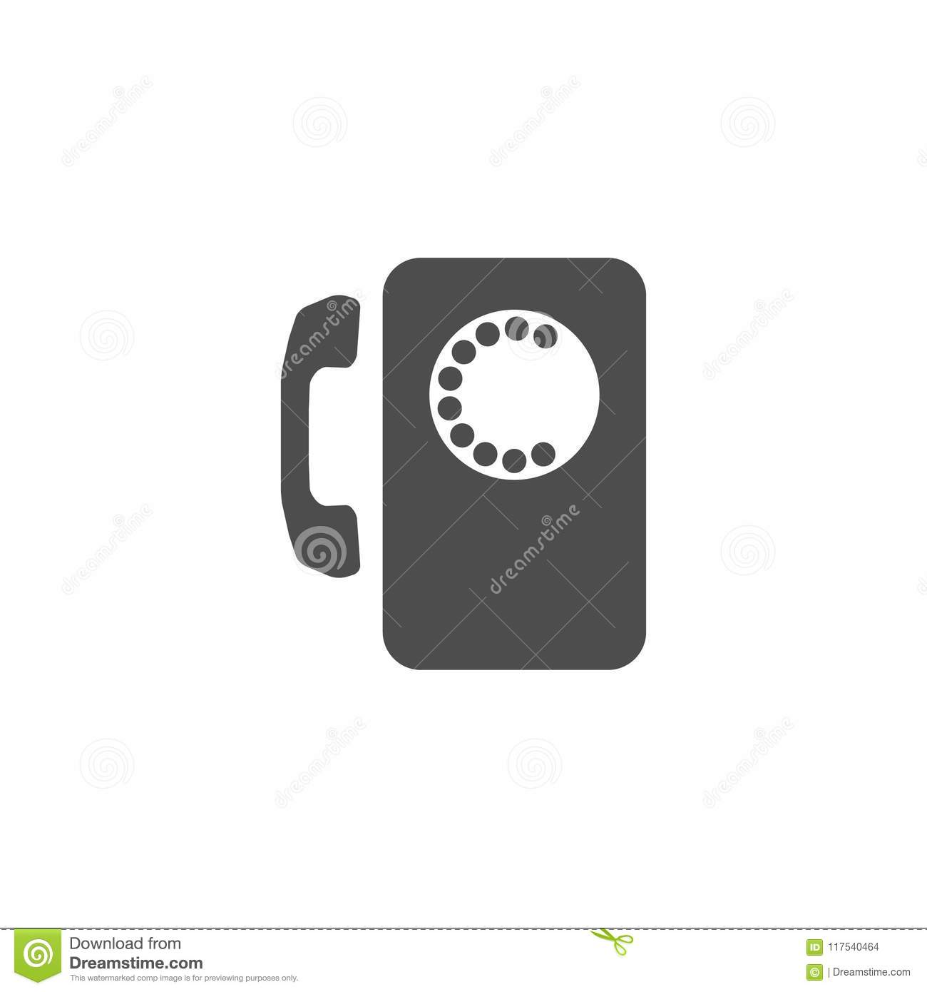 Payphone Icon On White Background Stock Vector Illustration Of