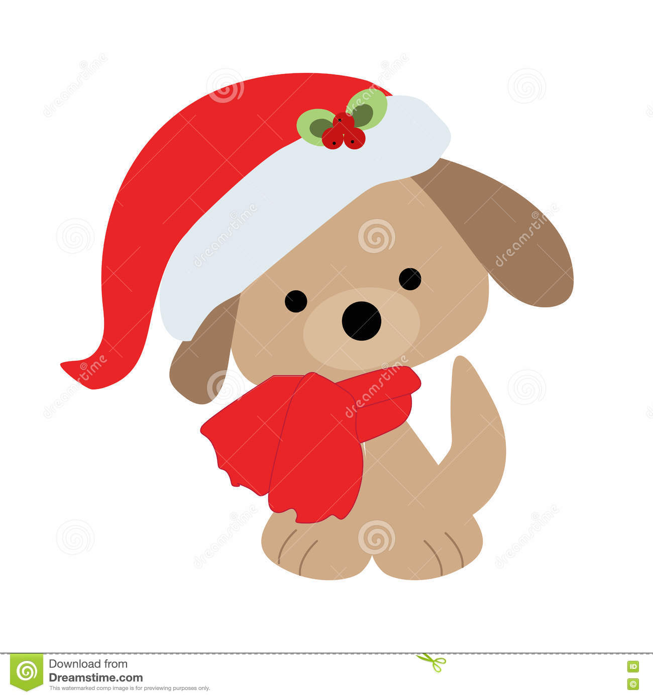 Icon Color Baby Cute Christmas Puppy On A White Background Stock Vector Illustration Of Drawing Pattern 80894206