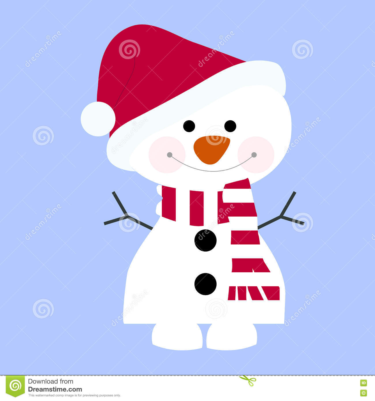 Icon Cute Baby Holiday Christmas Small Snowman Wearing A Scarf