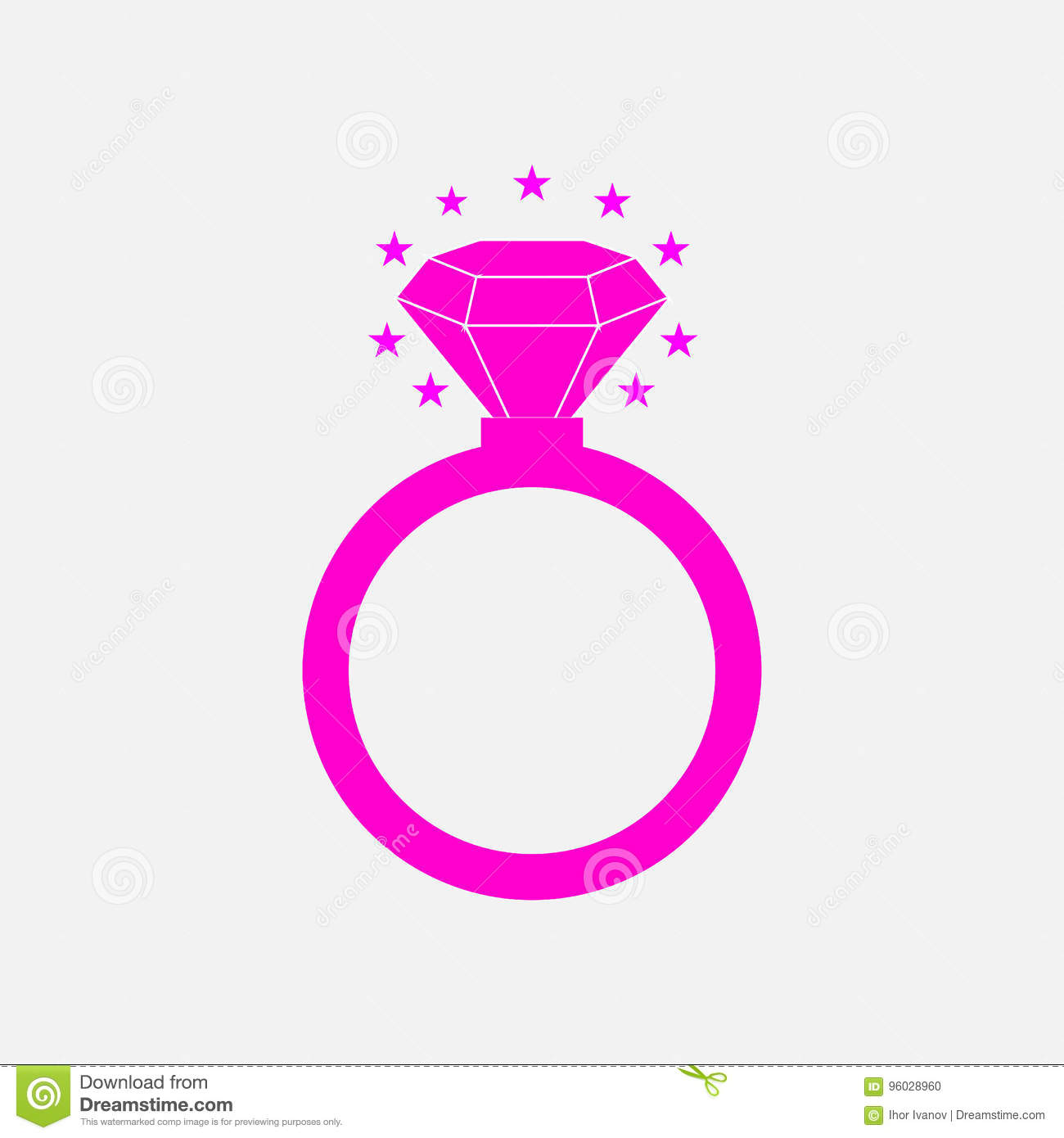 Icon diamond ring, wedding stock illustration. Illustration of ...
