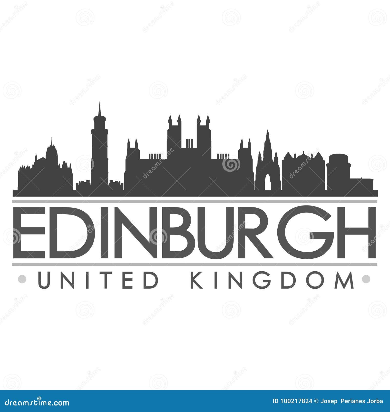 Edinburgh Silhouette Design City Vector Art