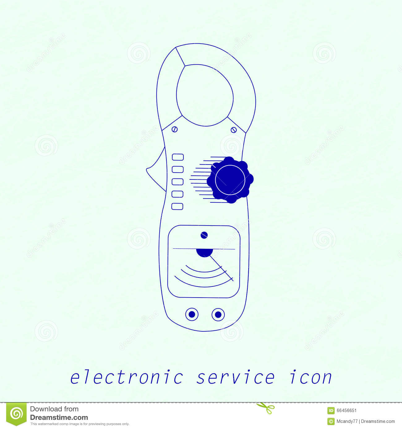 Instrument Current Electricity : Icon of electrical measuring instrument vector