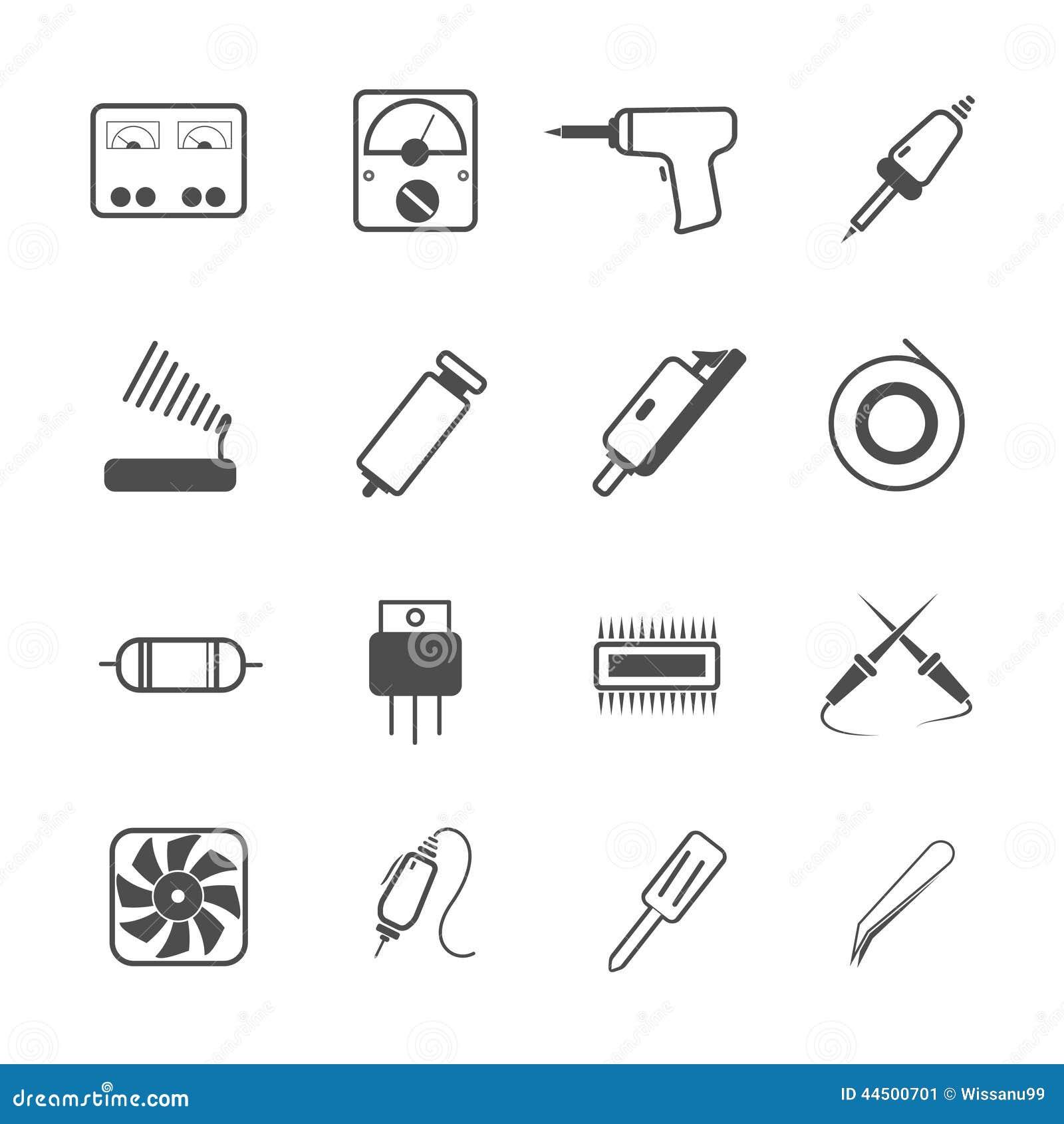 icon electronic repair tool stock vector