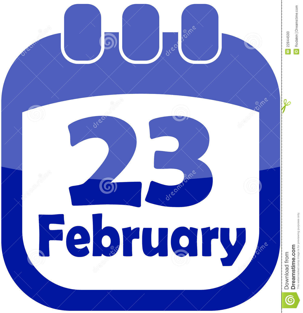 More similar stock images of ` Icon February 23 calendar `