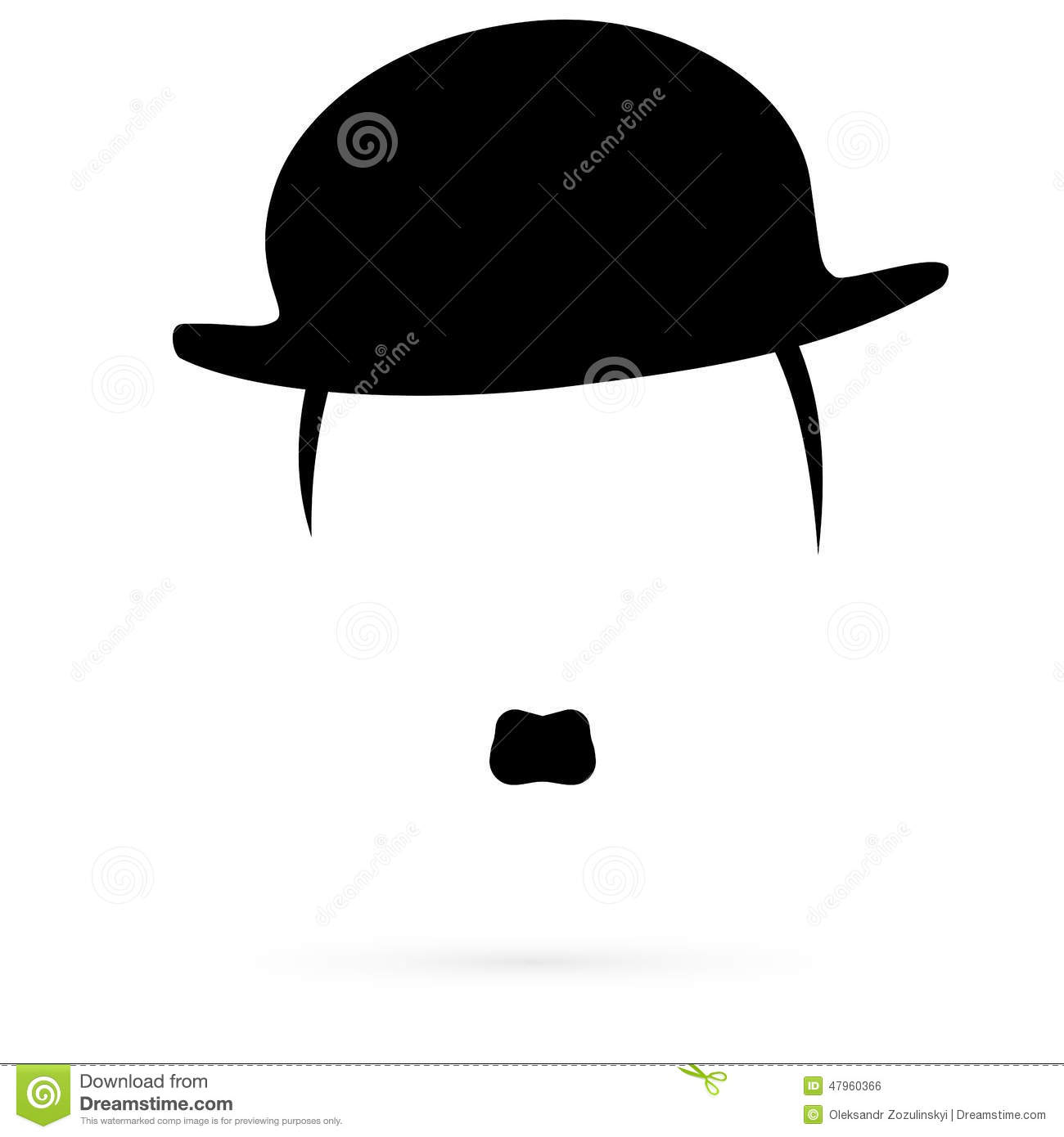30dc90604ebe7 Icon Hats And Mustaches. Raster. Stock Illustration - Illustration ...