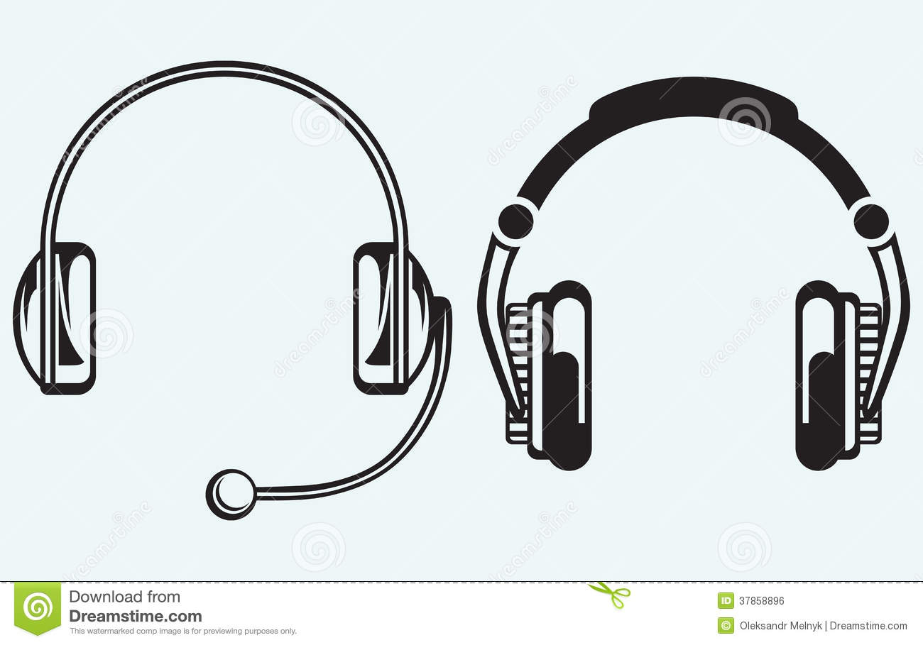 Icon Headphones Royalty Free Stock Image Image: 37858896
