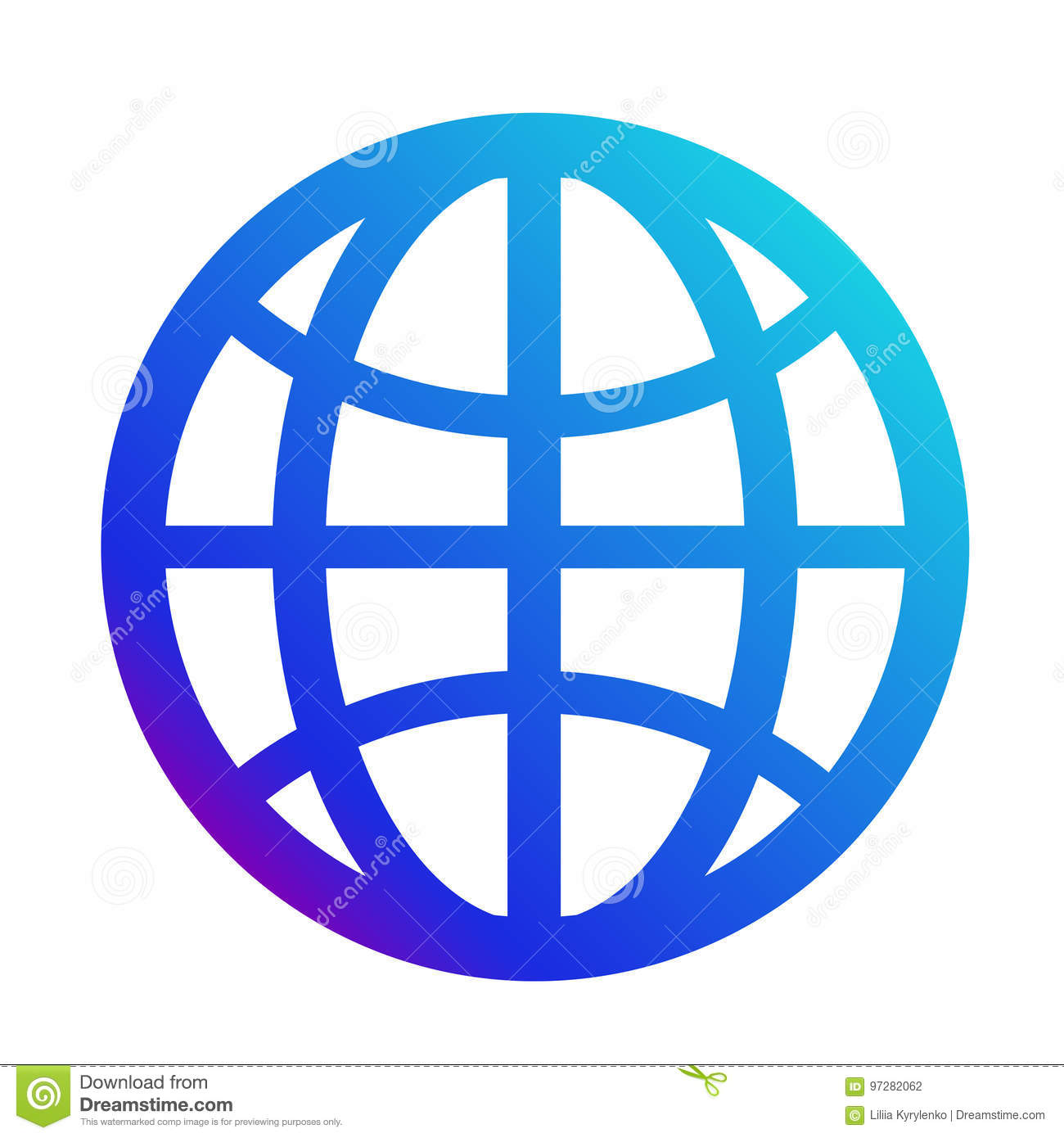 Icon internet symbol of the website globe sign stock for Logo sito internet