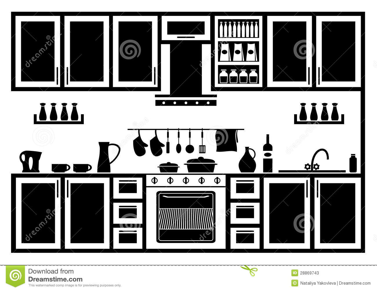 Icon Of Kitchen Stock Photos Image 28869743