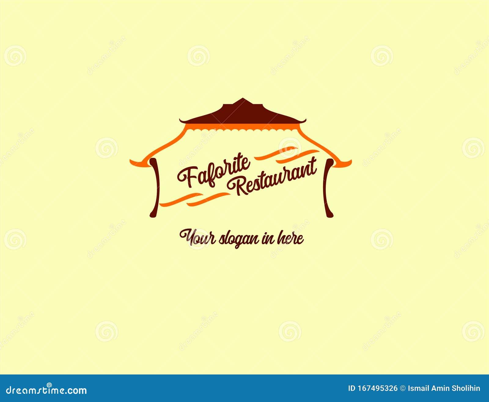 Logo Favorite Restaurant Design Logo Company Logo Traditional Company Stock Vector Illustration Of House Real 167495326