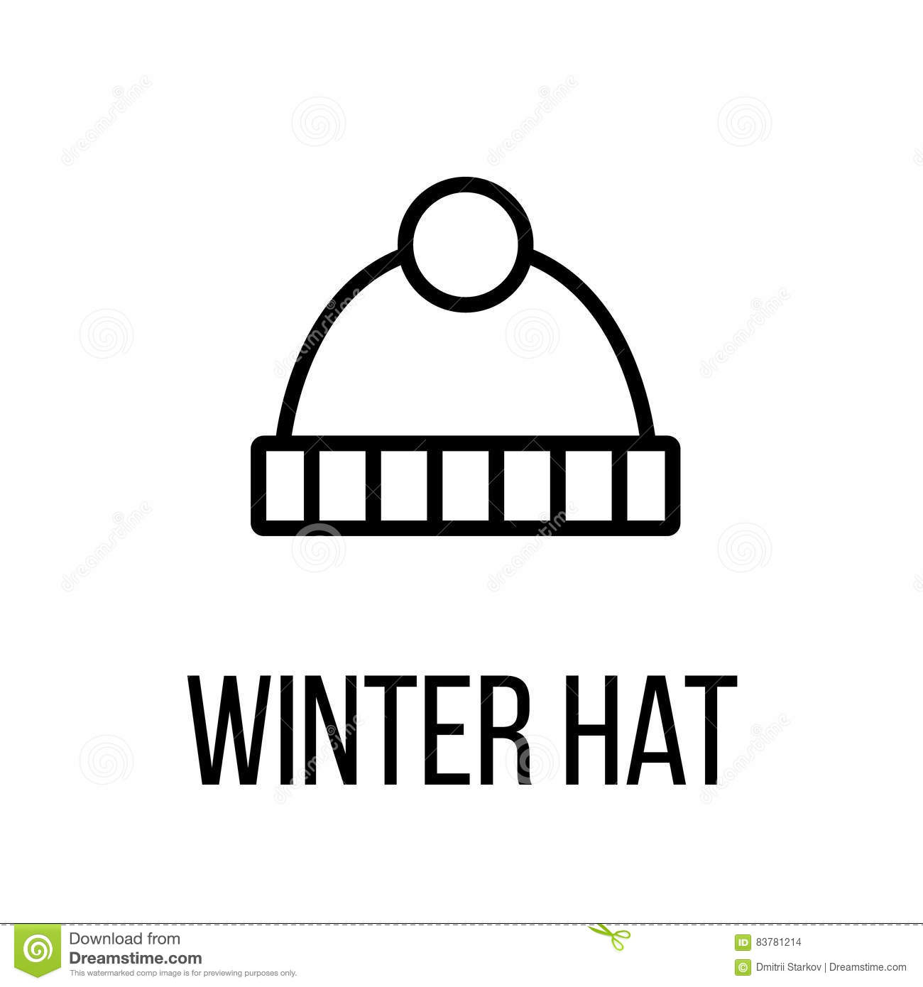 e390ea84ee928 Winter hat icon or logo in modern line style. High quality black outline  pictogram for web site design and mobile apps. Vector illustration on a  white ...