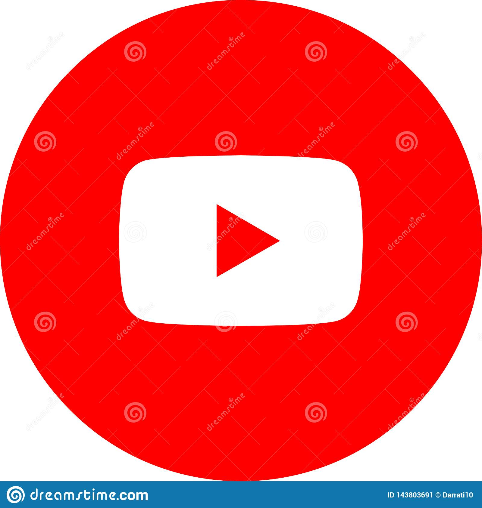 Icon Logo Youtube Vector Color Editorial Photo Illustration Of