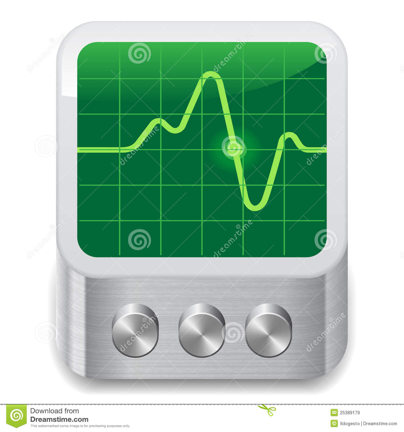Icon For Oscilloscope Royalty Free Stock Images - Image: 25389179