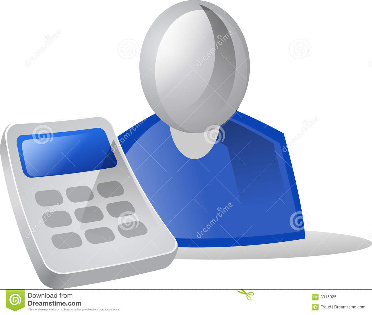 Icon People Calculator Royalty Free Stock Photo Image