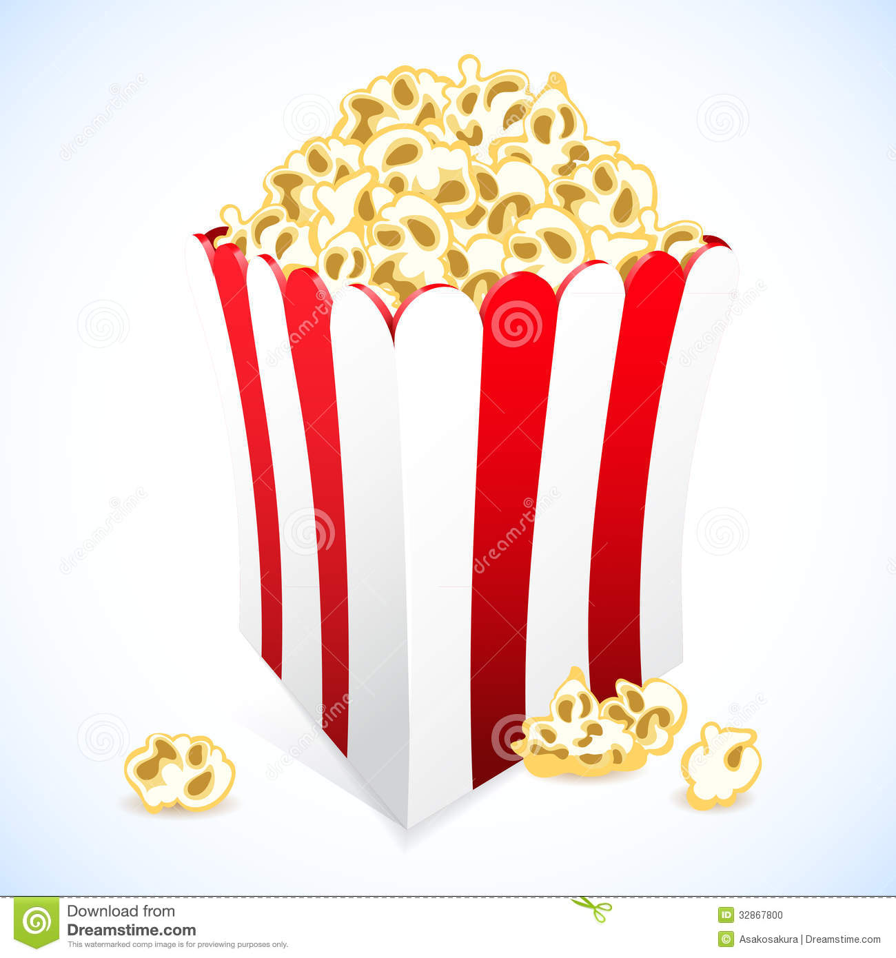Movie Popcorn Box Icon popcorn cardboard box for