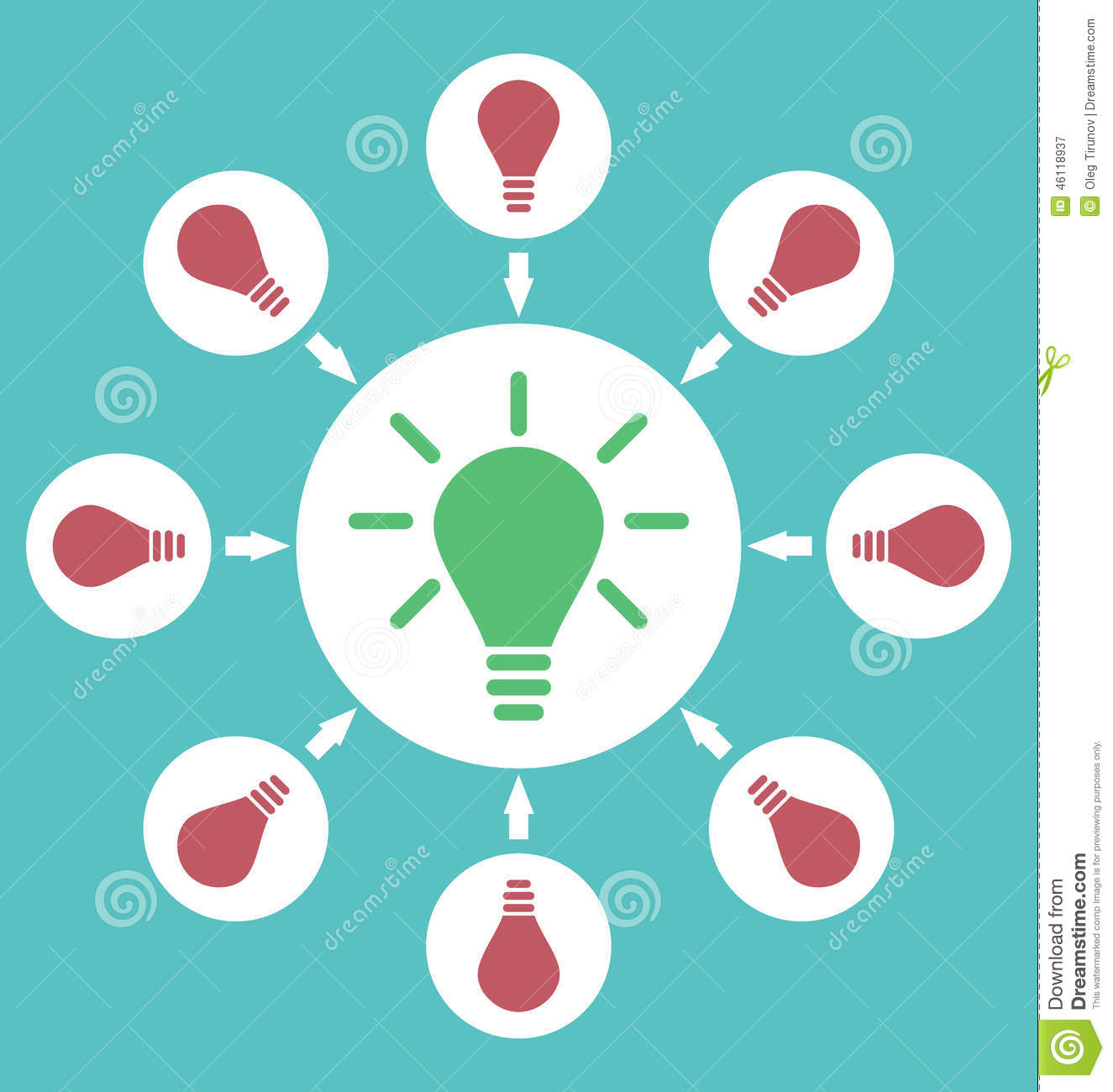 Icon Process Of Generating Ideas To Solve Problems, Birth
