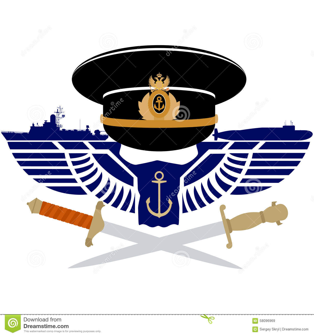 The Icon Of The Russian Navy Stock Vector Illustration Of Badge