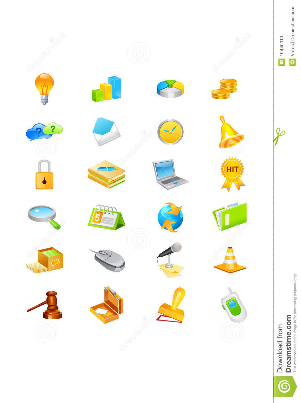 Download Icon set stock vector. Illustration of graph, case, book - 10440310