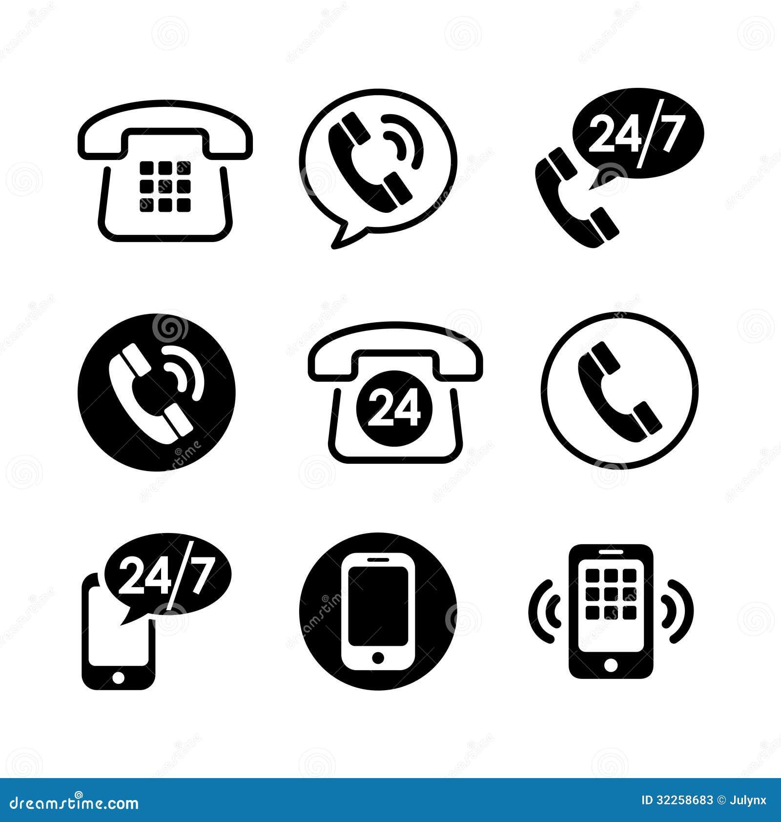 9 icon set - communication stock photos