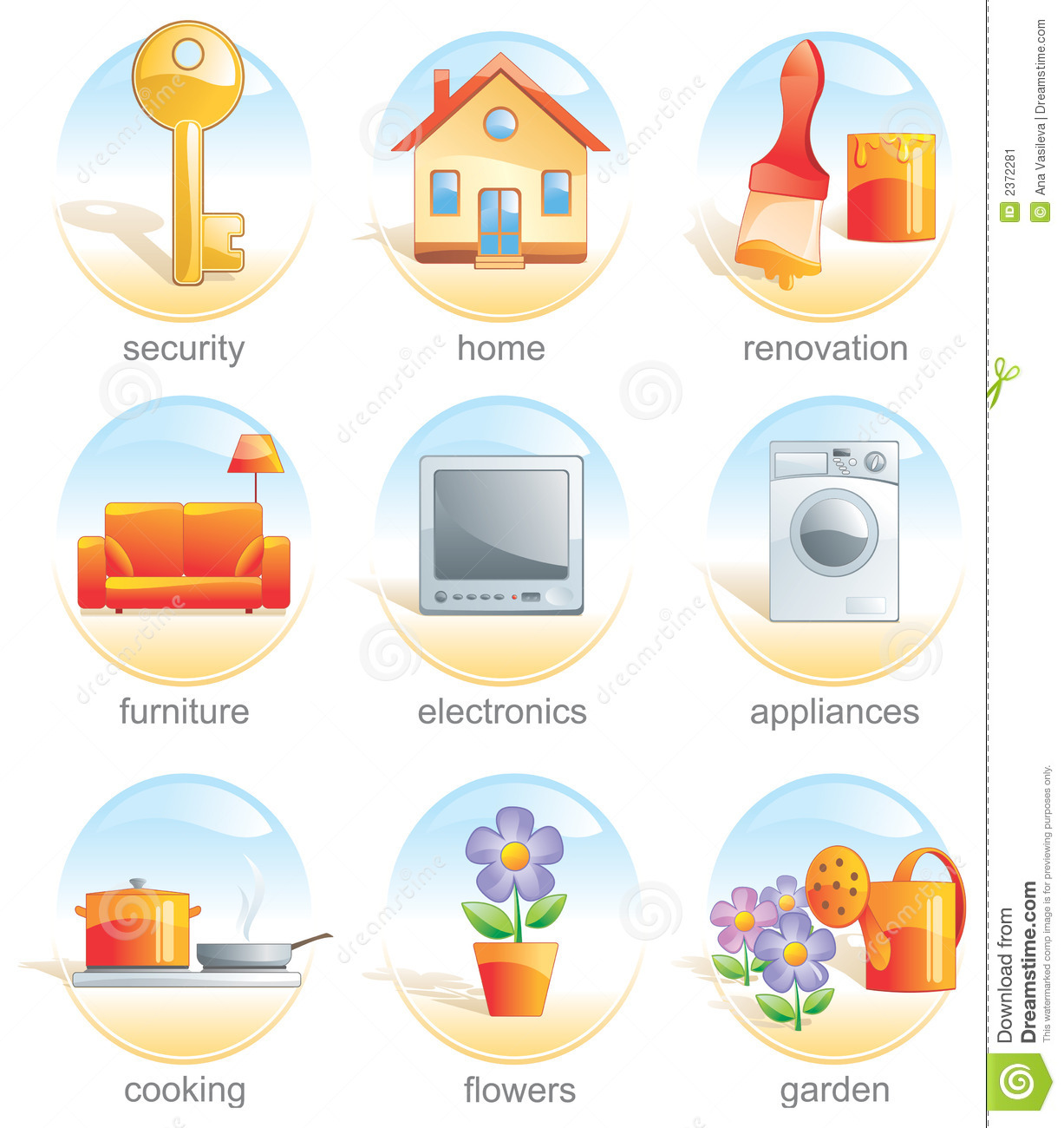 Icon Set Home Related Items