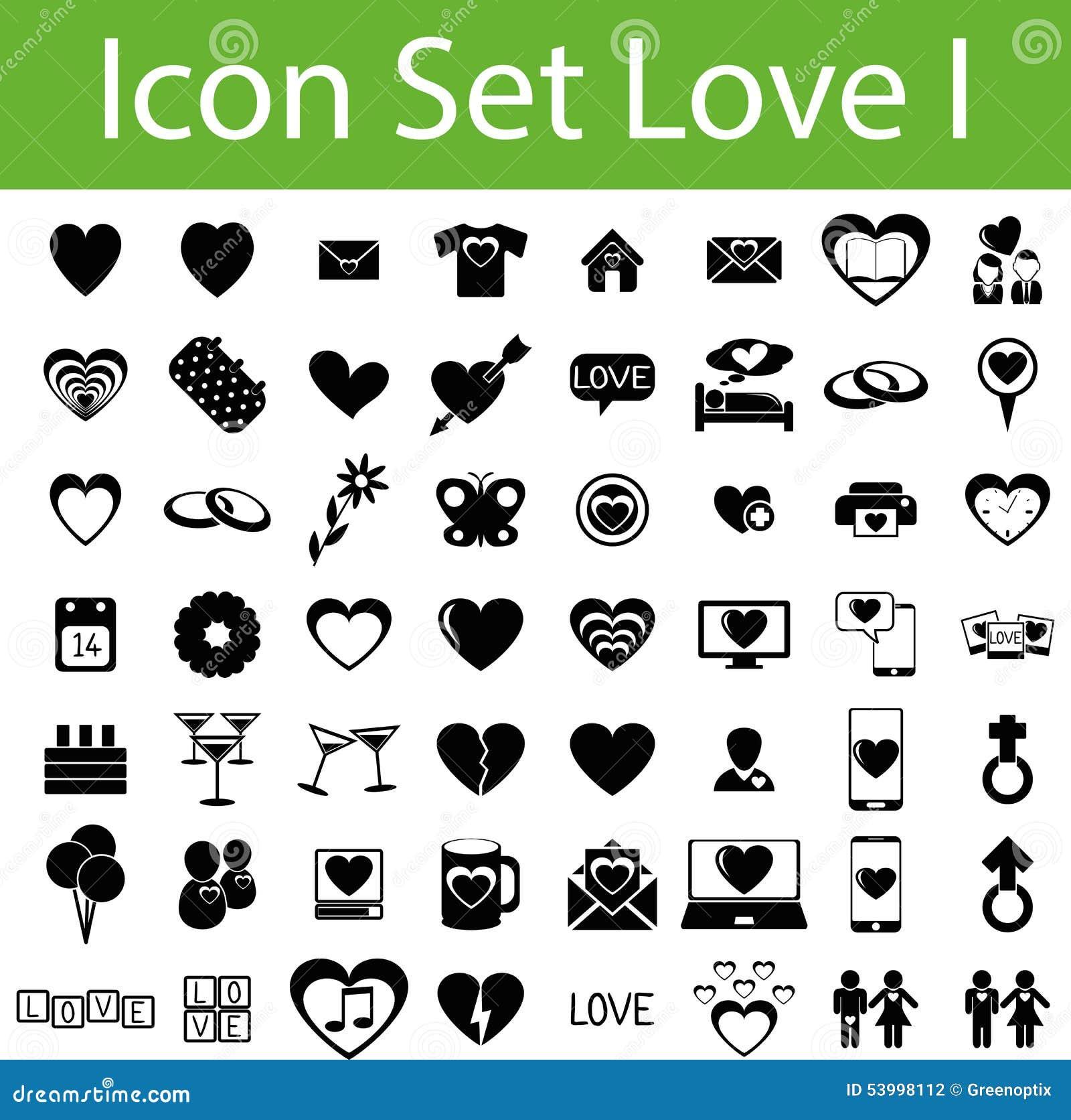 Icon Set Love