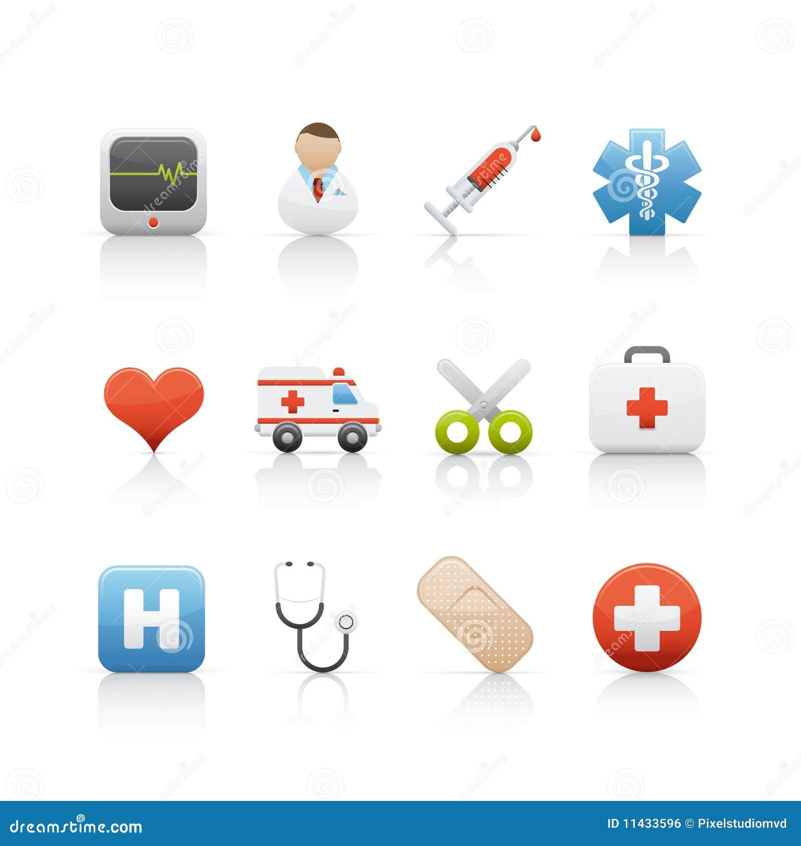 icon set medical and pharmacy 3 royalty free stock image