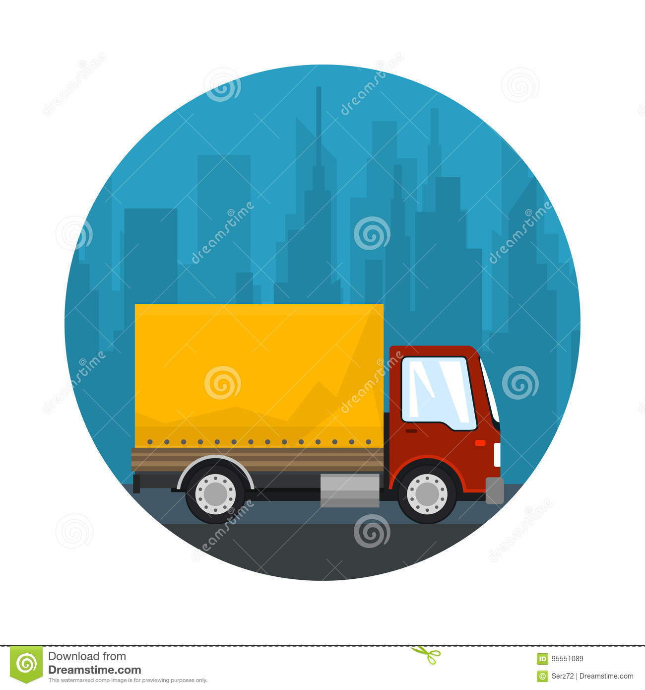 Icon Shipping And Freight Of Goods Stock Vector