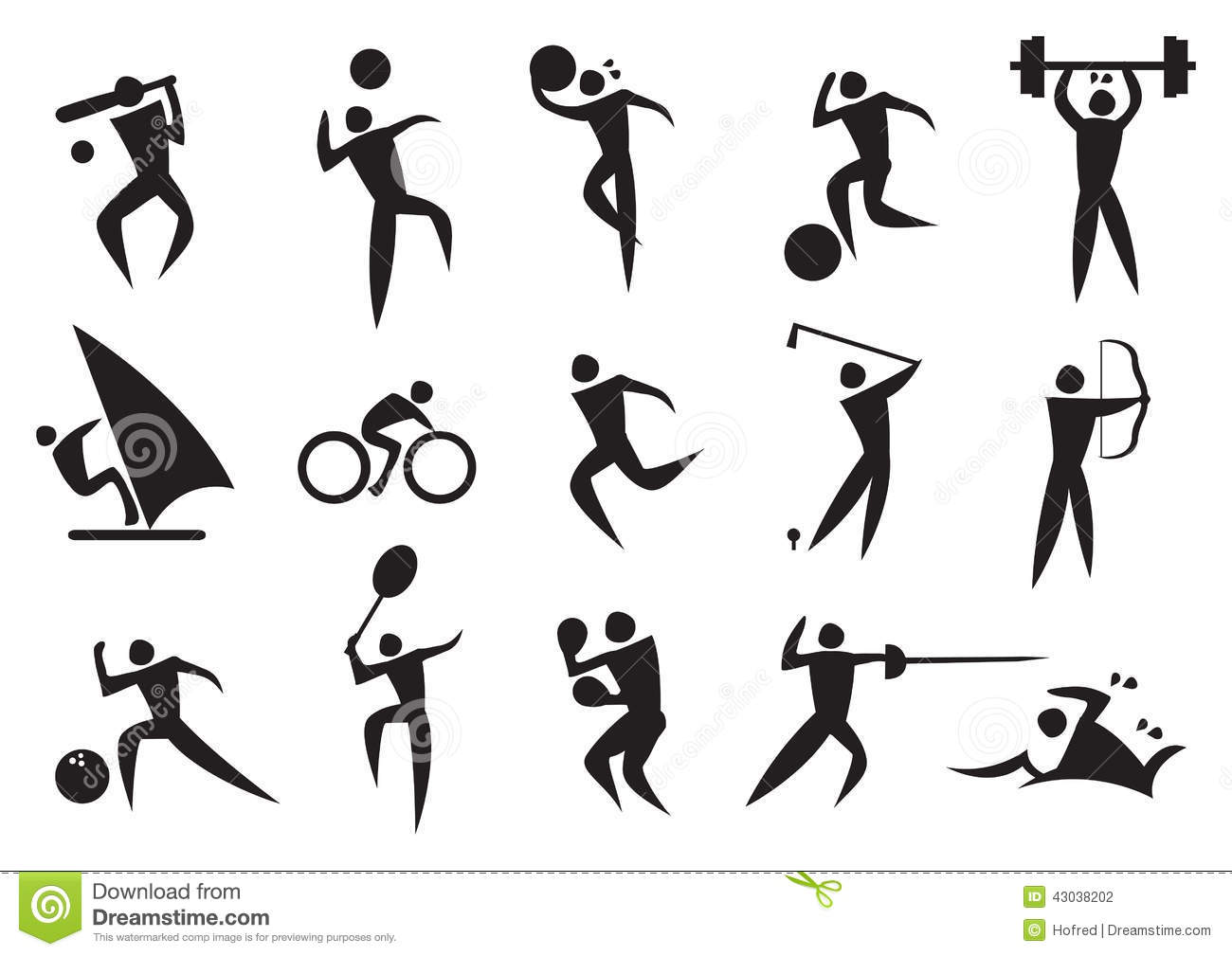 icon of sport man in the different activities stock vector archery clipart bring it on archer clipart