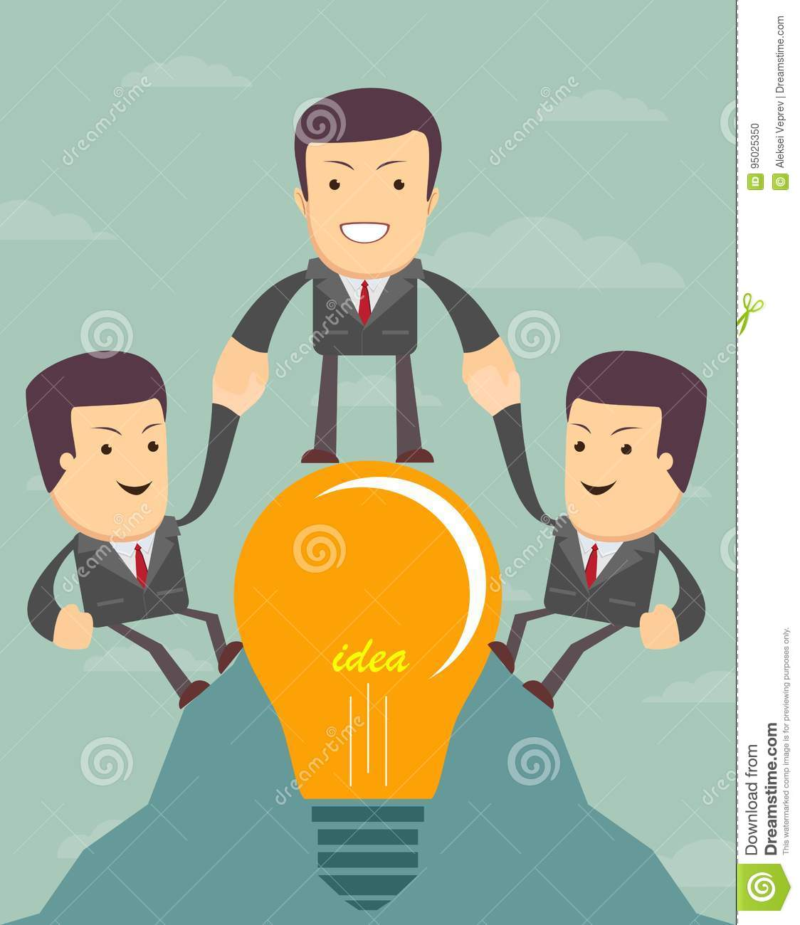 People Helping Each Other: Businessmen Cartoons, Illustrations & Vector Stock Images