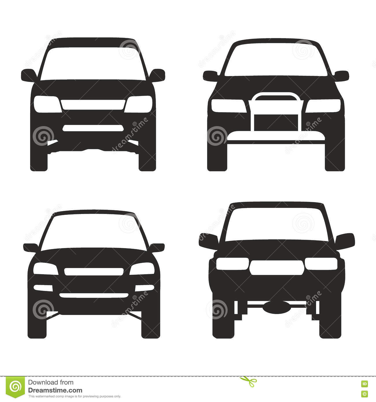 icon of suv truck 4x4 off road vector stock vector
