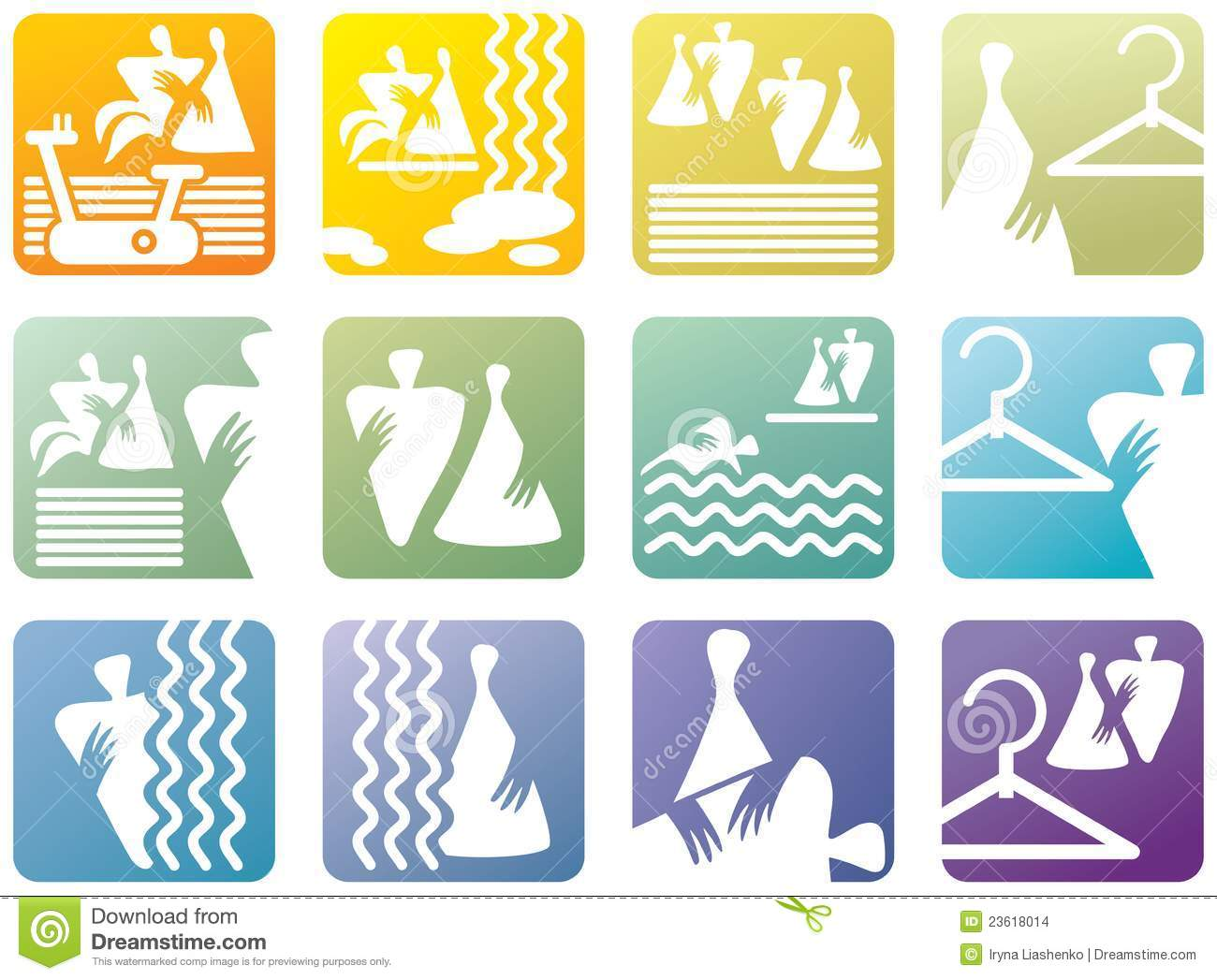 Icon Symbols For Fitness Club Stock Vector Illustration Of People