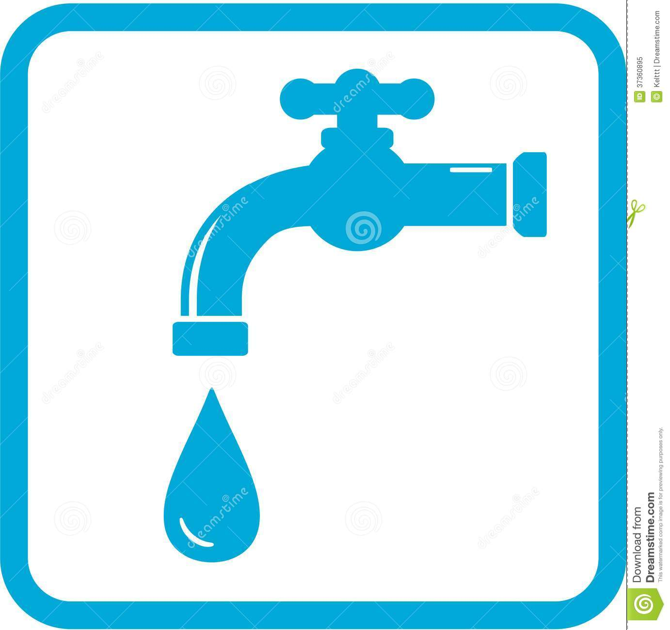 Icon With Tap. Water Symbol Royalty Free Stock Photo - Image: 37360895