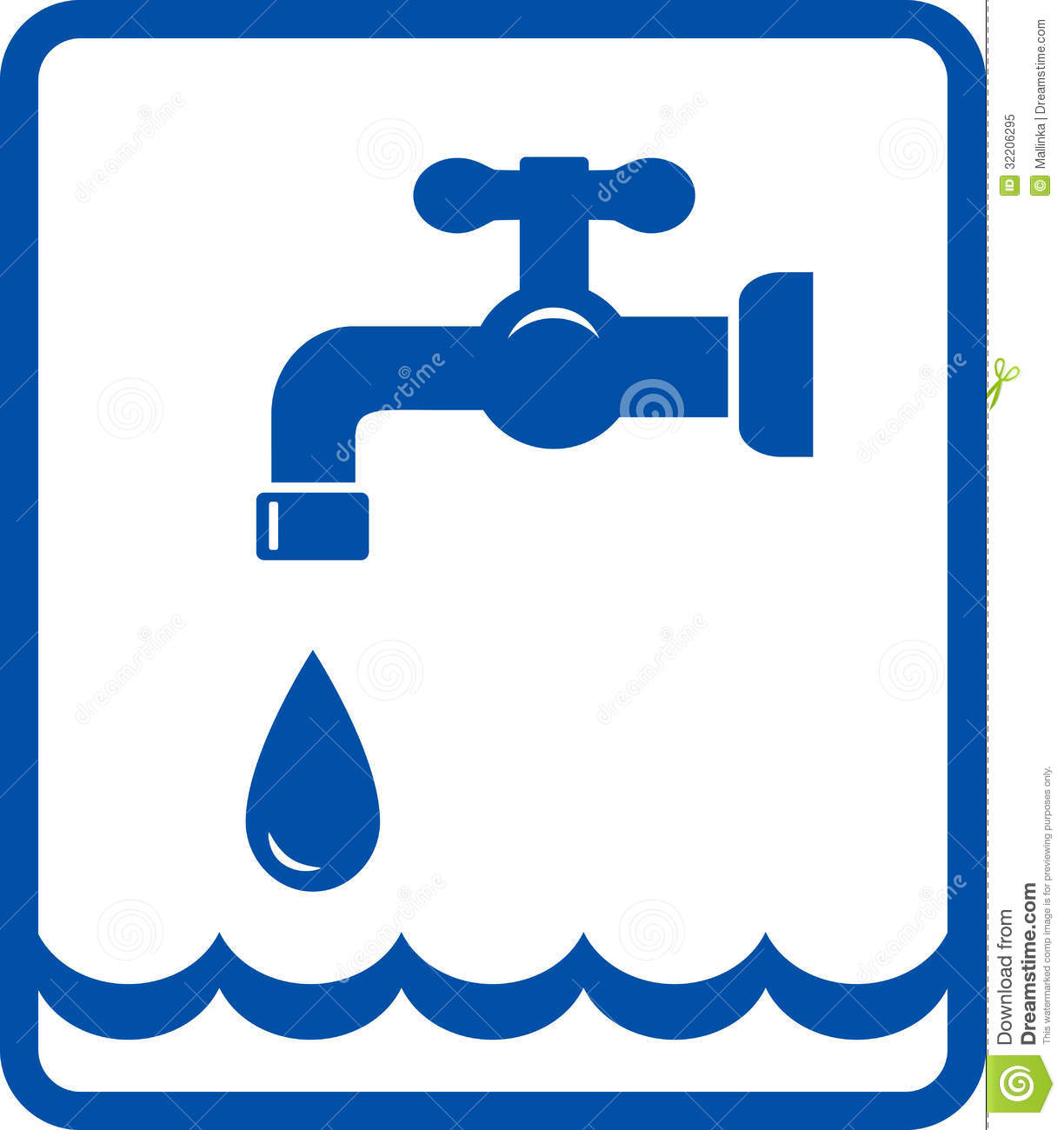 Drinking Water Faucet >> Icon With Tap And Water Wave Stock Vector - Illustration of equipment, faucet: 32206295