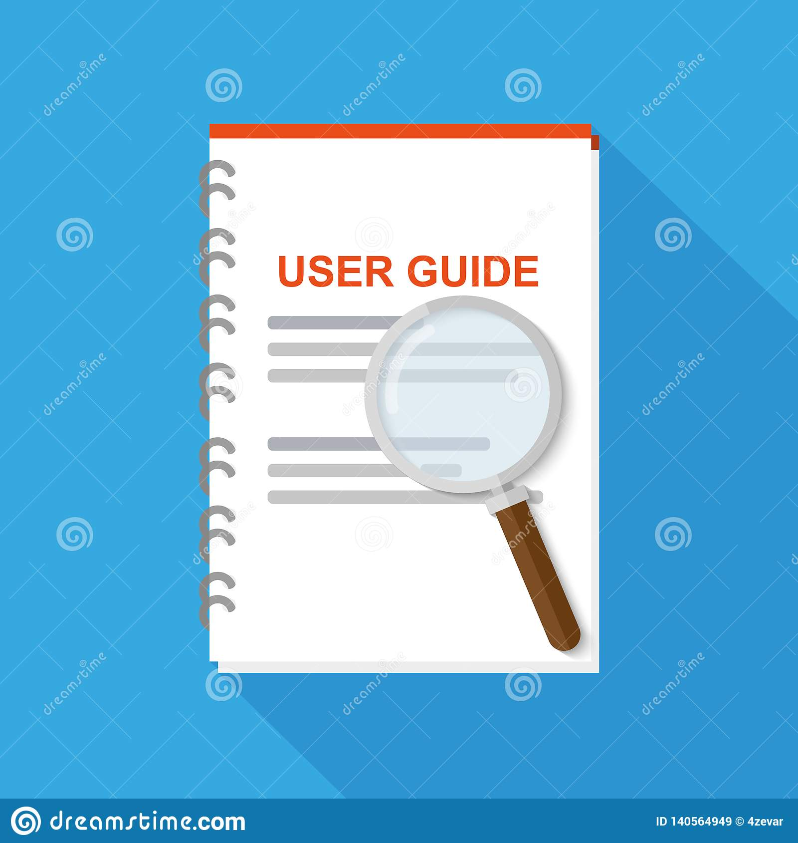 Pie Chart Vector Icon Manual Guide
