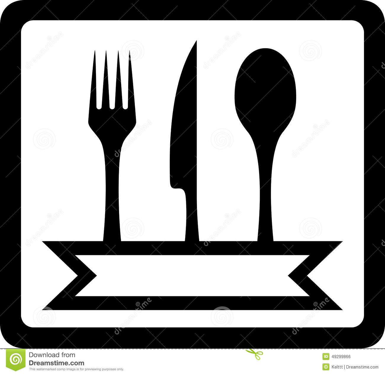icon with utensils for restaurant foods stock vector