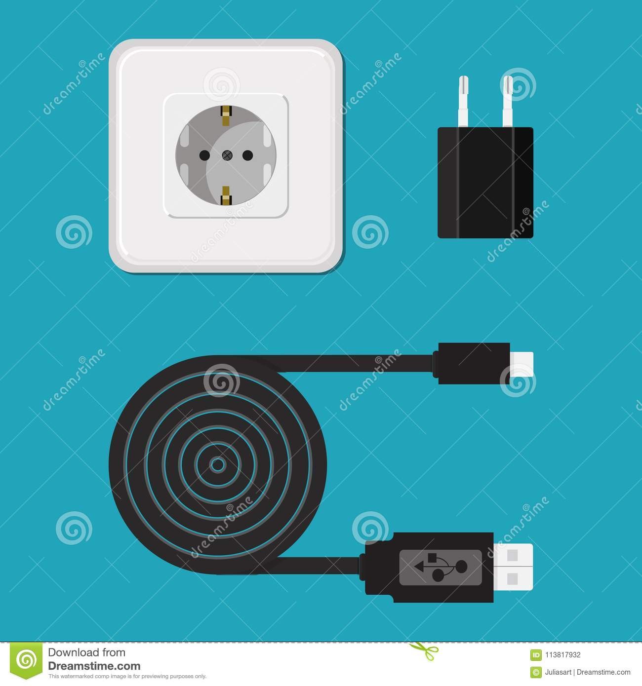 Charger Cable Wire For Phone With Micro Usb Connector Icon V Wiring A Plug