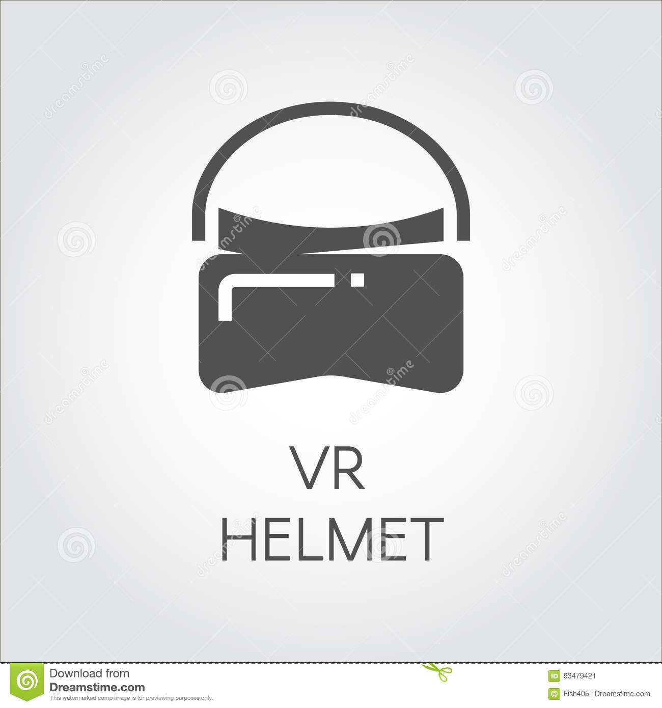 Icon VR Helmet In Flat Style. Concept Of Virtual Reality ...
